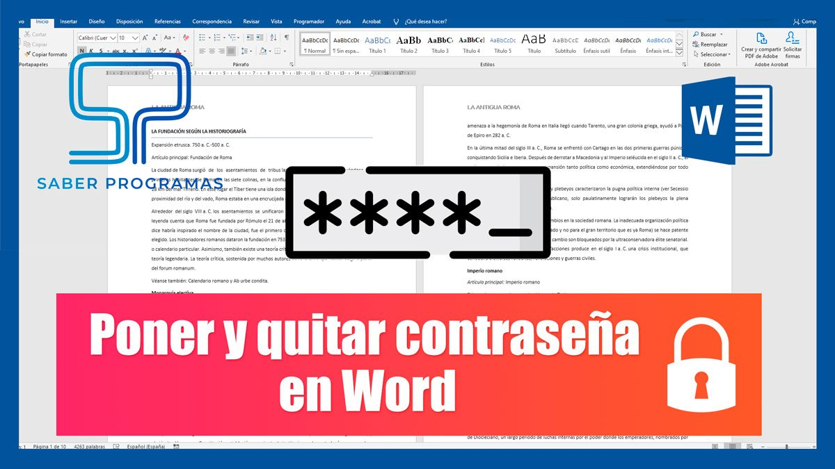 Cifrar con contraseña documento de Word