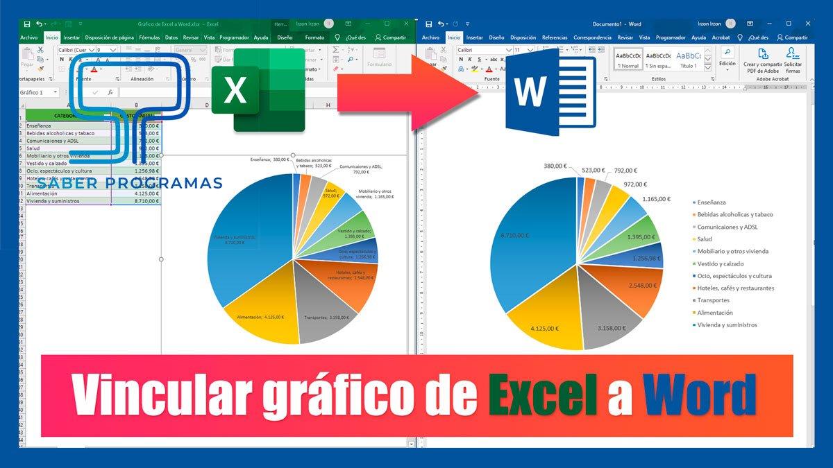 Insertar gráfico de Excel en Word
