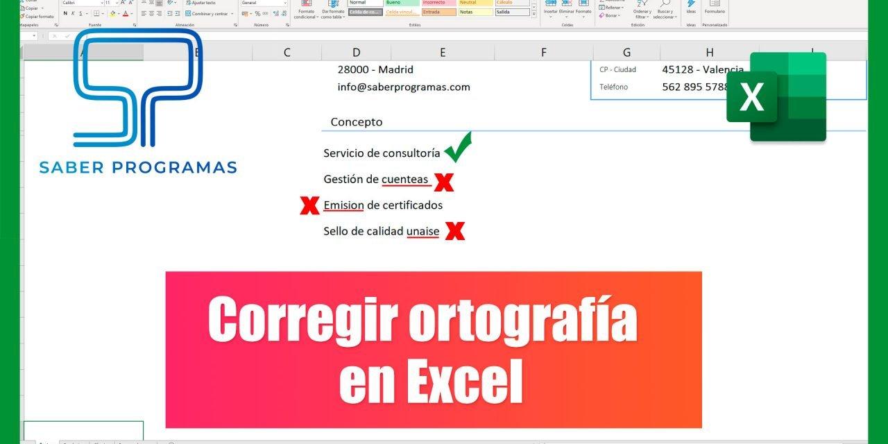 Corregir textos en Excel   Corrección ortográfica