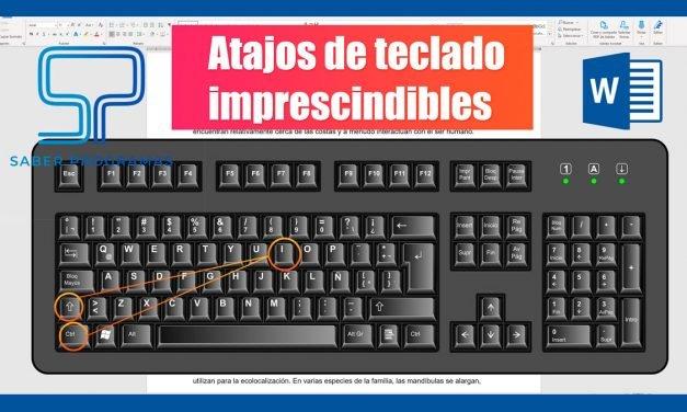 Atajos de teclado en Word imprescindibles
