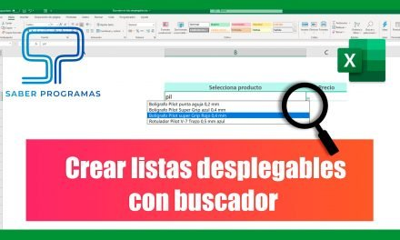 Buscador en lista desplegable de Excel