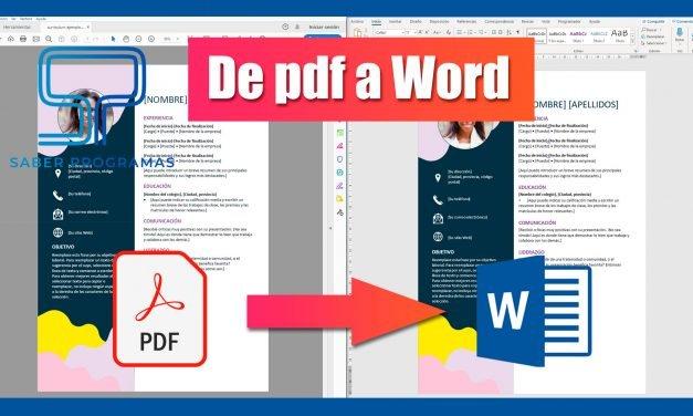 Convertir pdf a word sin programas