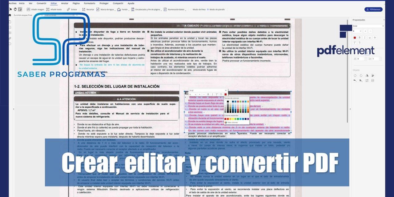 Editar PDF's escaneados, convertir de PDF a Word y mucho más.