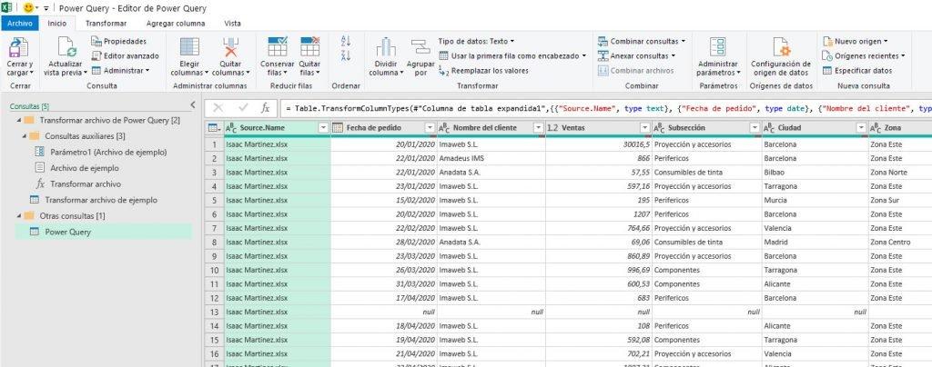 juntar archivos en Excel