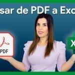 Pasar de pdf a Excel | sin programas ni páginas web de conversión.