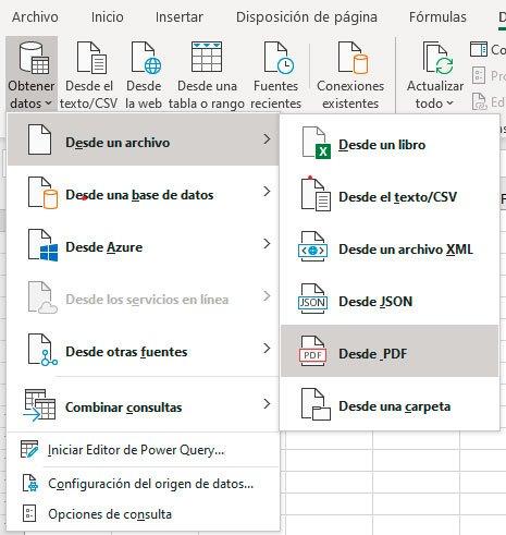 pasar de PDF a Excel