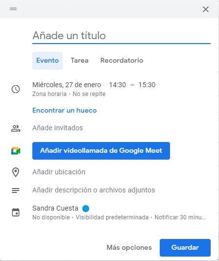 cómo usar Google Calendar