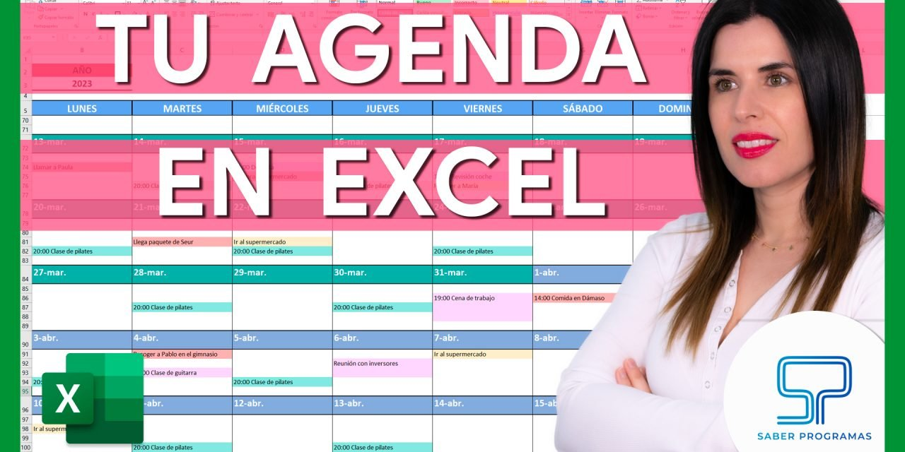 Calendario Agenda en Excel paso a paso