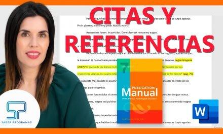 Citas y referencias apa 7ma edición