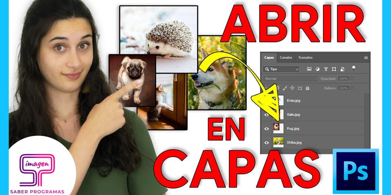 Importar Imágenes en Capas en Photoshop