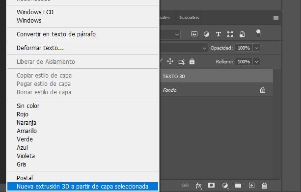 crear texto 3d