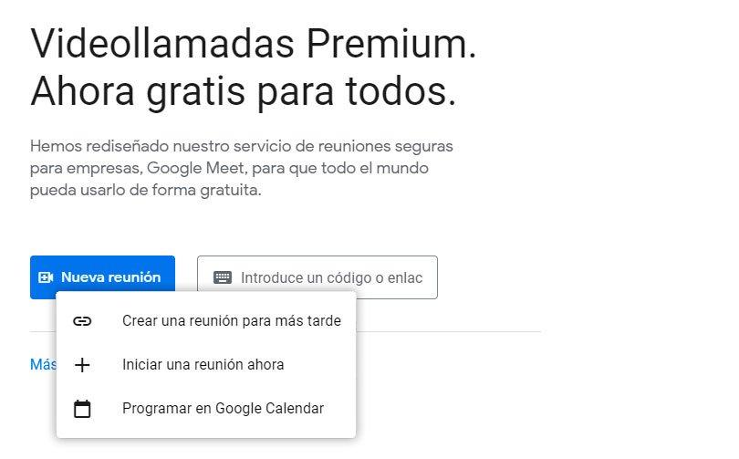 usar Google Meet
