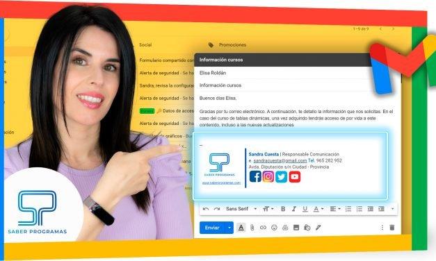 Crear firma en Gmail con imagen, texto y enlaces